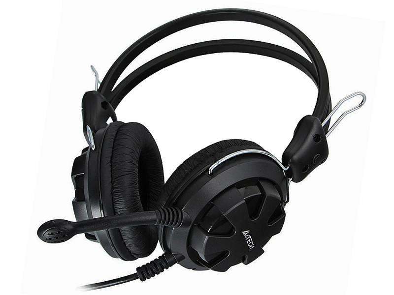 Гарнитура A4Tech HS-28 3.5мм черный гарнитура hama hs 101 черный 53971 53999
