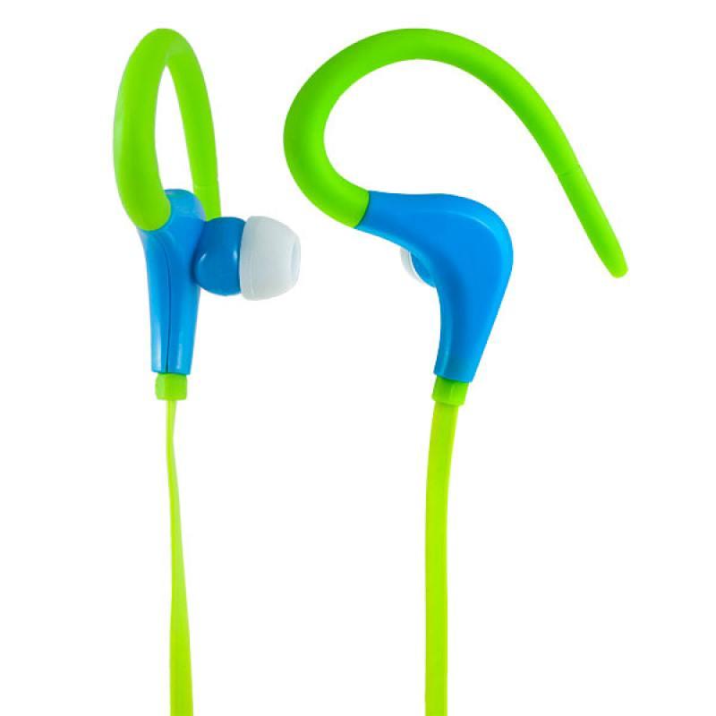 Наушники Perfeo Fitness зеленый/синий F-FNS-GRN/BL Проводные / Внутриканальные / Зеленый-синий / 20 Гц - 20 кГц / 100 дБ / Двухстороннее / Mini-jack / 3.5 мм наушники bbk ep 1190s синий проводные внутриканальные синий 20 гц 22 кгц 98 дб двухстороннее mini jack 3 5 мм