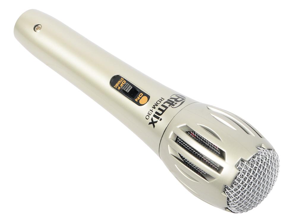 все цены на Микрофон Ritmix RDM-130 серебристый онлайн
