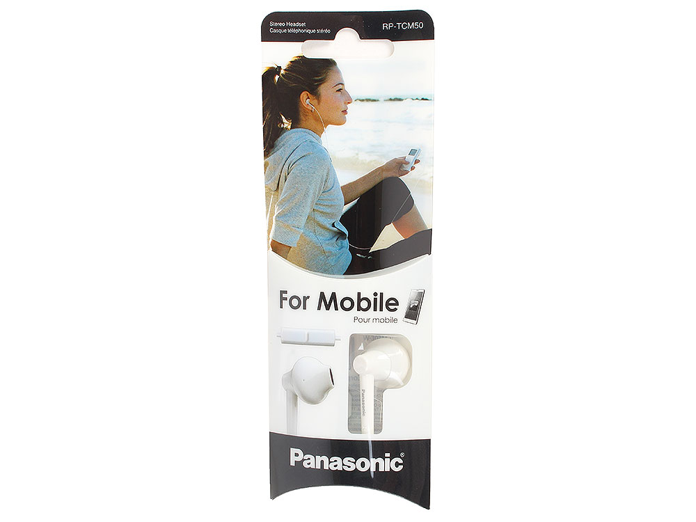RP-TCM50E-W panasonic rp tcm50e k in ear headphones microphone and remote control compatible with smartphone clear bass sound custom design