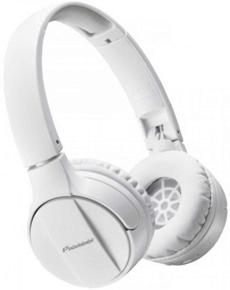 Наушники (гарнитура) Pioneer SE-MJ553BT-W White Беспроводные, проводные / Полноразмерные с микрофоном / Белый / Одностороннее / до 12 ч / Bluetooth, Mini-jack / 3.5 мм гарнитура soul impact white беспроводные внутриканальные с микрофоном белый до 8 ч bluetooth micro usb