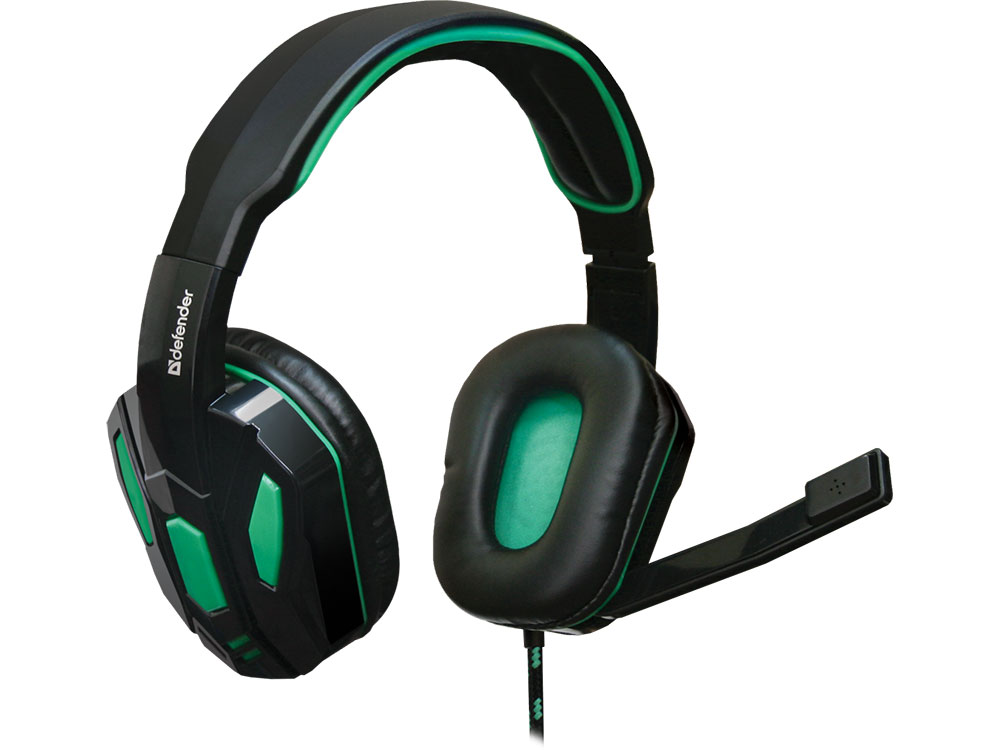 Гарнитура Defender Gaming Warhead G-275 черно-зеленый 64122 headphone defender warhead g 110