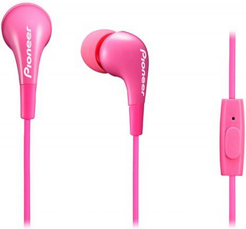 Гарнитура Pioneer SE-CL502T-P розовый гарнитура вкладыши pioneer se cl502t w