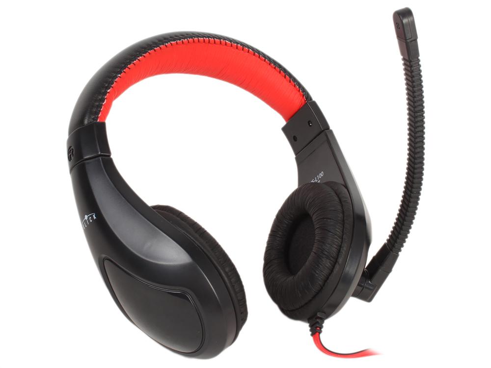 все цены на Гарнитура Oklick HS-L100 черный/красный 2м мониторы
