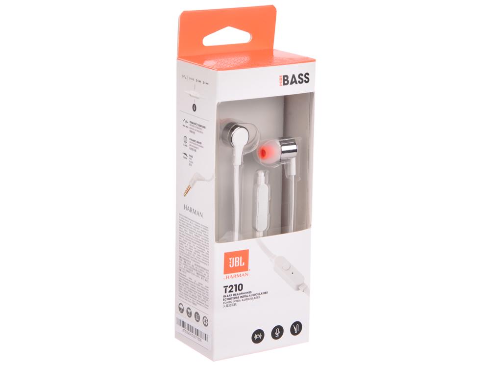 Наушники JBL T210 Gray jbl jblclipplusgray clip plus gray