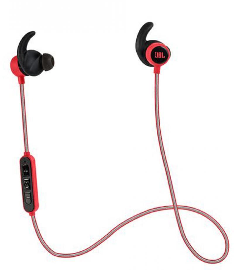 Наушники (гарнитура) JBL Reflect Mini BT Red Беспроводные / Внутриканальные с микрофоном / Красный / 10 Гц - 22 кГц / 95 дБ / до 8 ч / Bluetooth, Micro-USB гарнитура jbl synchros e50bt red