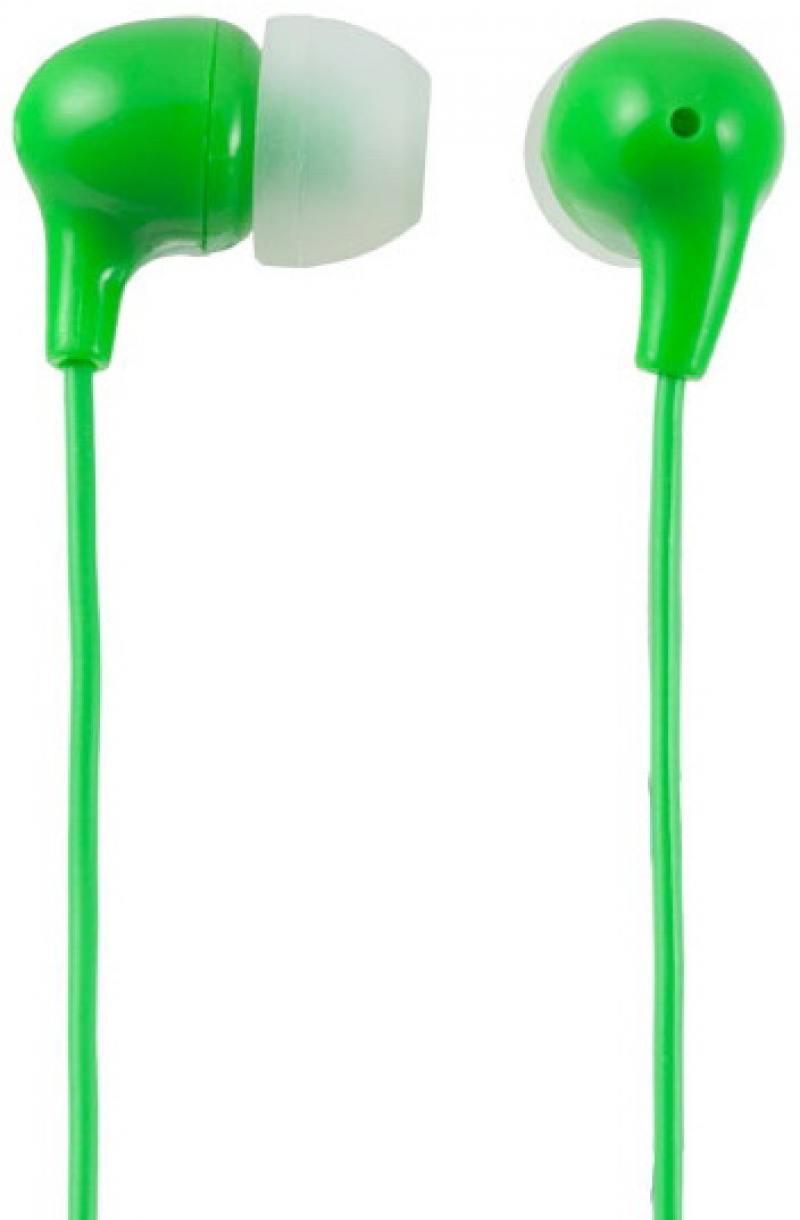 Наушники Perfeo Commas PF-CMS-GRN Проводные / Внутриканальные / Зеленый / 20 Гц - 20 кГц / 95 дБ / Двухстороннее / Mini-jack / 3.5 мм