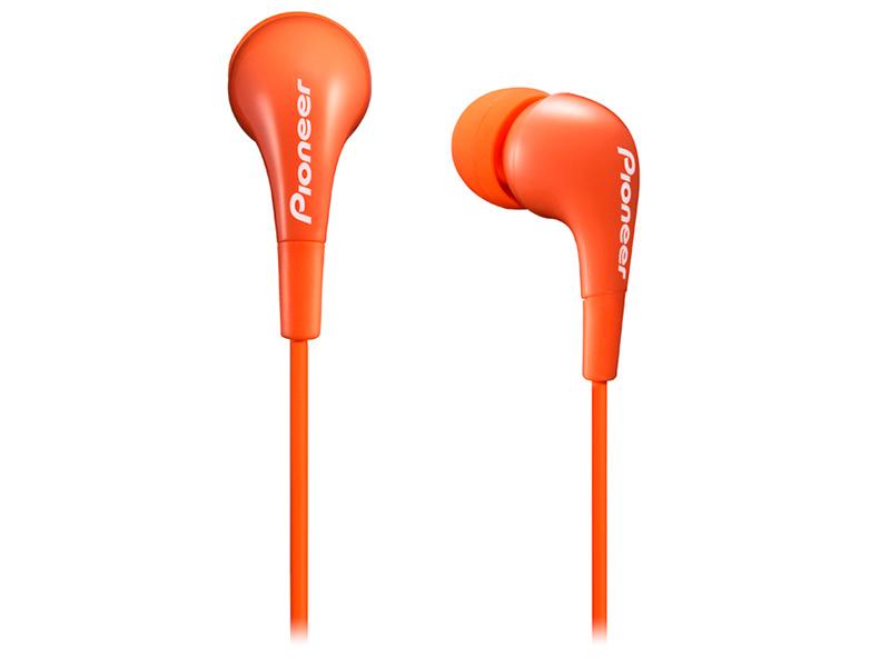 Наушники Pioneer SE-CL502-M Orange Проводные / Внутриканальные / Оранжевый / 20 Гц - 20 кГц / 100 дБ / Двухстороннее / Mini-jack / 3.5 мм наушники dialog ep 40 проводные внутриканальные черный красный 20 гц 20 кгц двухстороннее mini jack 3 5 мм
