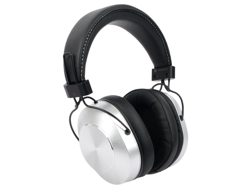 Наушники (гарнитура) Pioneer SE-MS7BT-S Silver Беспроводные, проводные / Полноразмерные с микрофоном / Серебристый-черный / 9 Гц - 22 кГц / 98 дБ / Односторо наушники philips shb3075bk 00 черный беспроводные полноразмерные с микрофоном черный 9 гц 21 кгц 103 дб до 12ч bluetooth micro usb