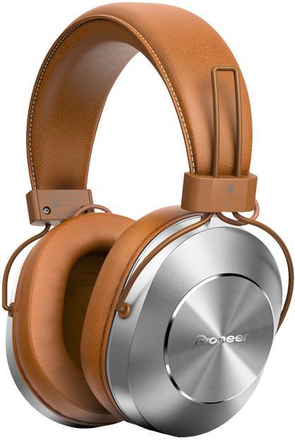 Наушники (гарнитура) Pioneer SE-MS7BT-T Беспроводные, проводные / Полноразмерные с микрофоном / Коричневый-серебристый / 9 Гц - 22 кГц / 98 дБ / Односторо
