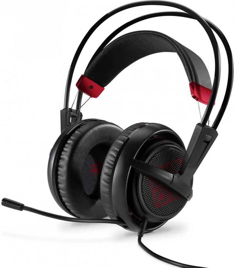 Гарнитура HP Omen черно-красный X7Z95AA  гарнитура проводная hp omen headset steelseries черный x7z95aa