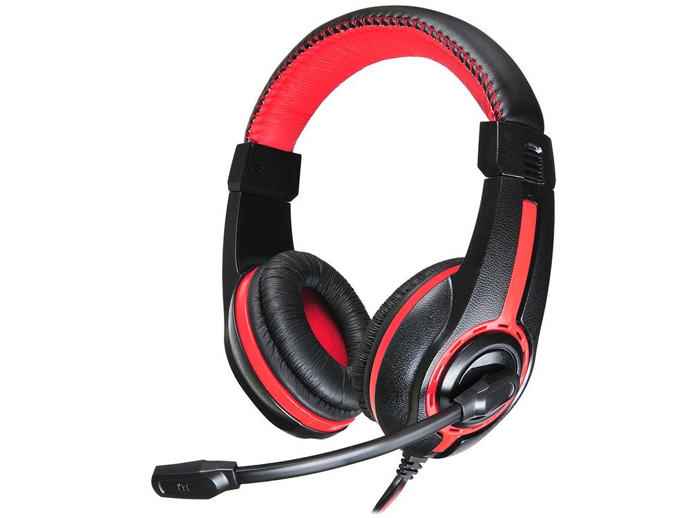 Гарнитура Oklick HS-L200 черно-красный