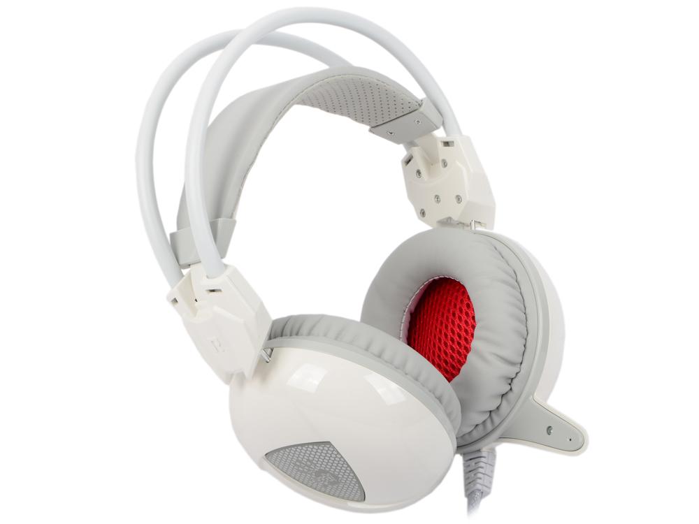 Наушники (гарнитура) A4Tech Bloody G310 Проводные / Полноразмерные с микрофоном / Белый / 20 Гц - 20 кГц / 100 дБ / Одностороннее / Mini-jack 3.5 мм / USB гарнитура ienjoy in066