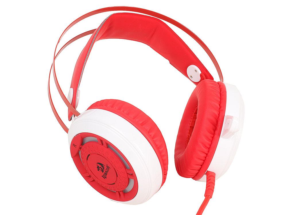 Гарнитура Redragon Sapphire красный + белый, кабель 2,5 м гарнитура redragon sapphire проводная игровая с подсветкой для pc красно белый
