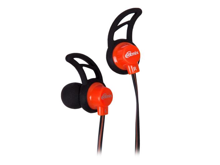 Наушники Ritmix RH-125 черный/оранжевый Проводные / Внутриканальные / Черный-оранжевый / 20 Гц - 20 кГц / 92 дБ / Двухстороннее / Mini-jack / 3.5 мм наушники dialog ep 40 проводные внутриканальные черный красный 20 гц 20 кгц двухстороннее mini jack 3 5 мм