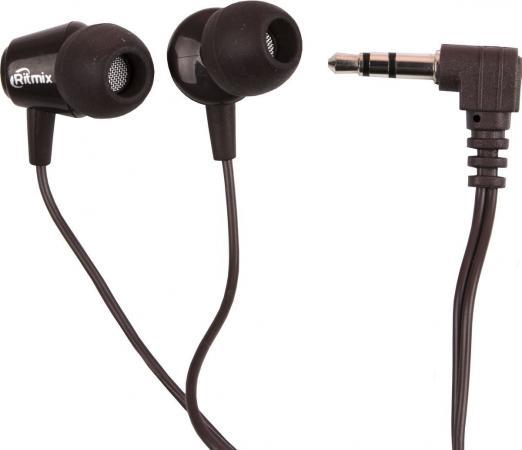 Наушники Ritmix RH-011 Brown Проводные / Внутриканальные / Коричневый / 8 Гц - 22 кГц / 100 дБ / Двухстороннее / Mini-jack / 3.5 мм ritmix rh 011 dark brown