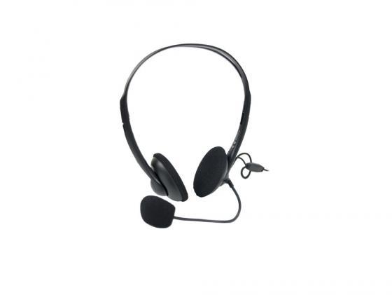 Наушники (гарнитура) A4Tech HS-6 Проводные / Накладные с микрофоном / Черный / 20 Гц - 20 кГц / 97 дБ / Одностороннее / 2 х Mini-jack 3.5 мм цена и фото