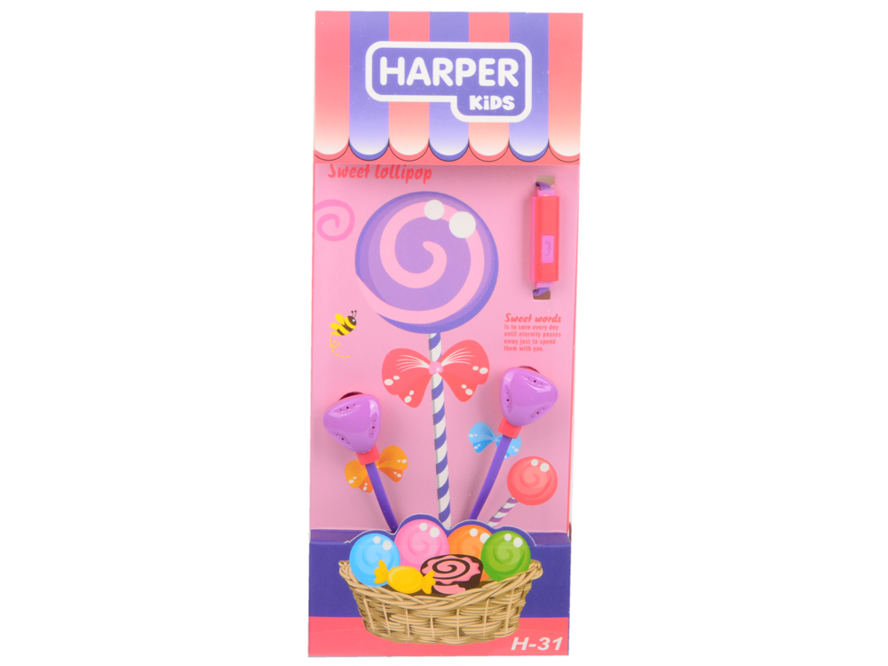 Гарнитура HARPER KIDS H-31 purple гарнитура harper kids h 31 red