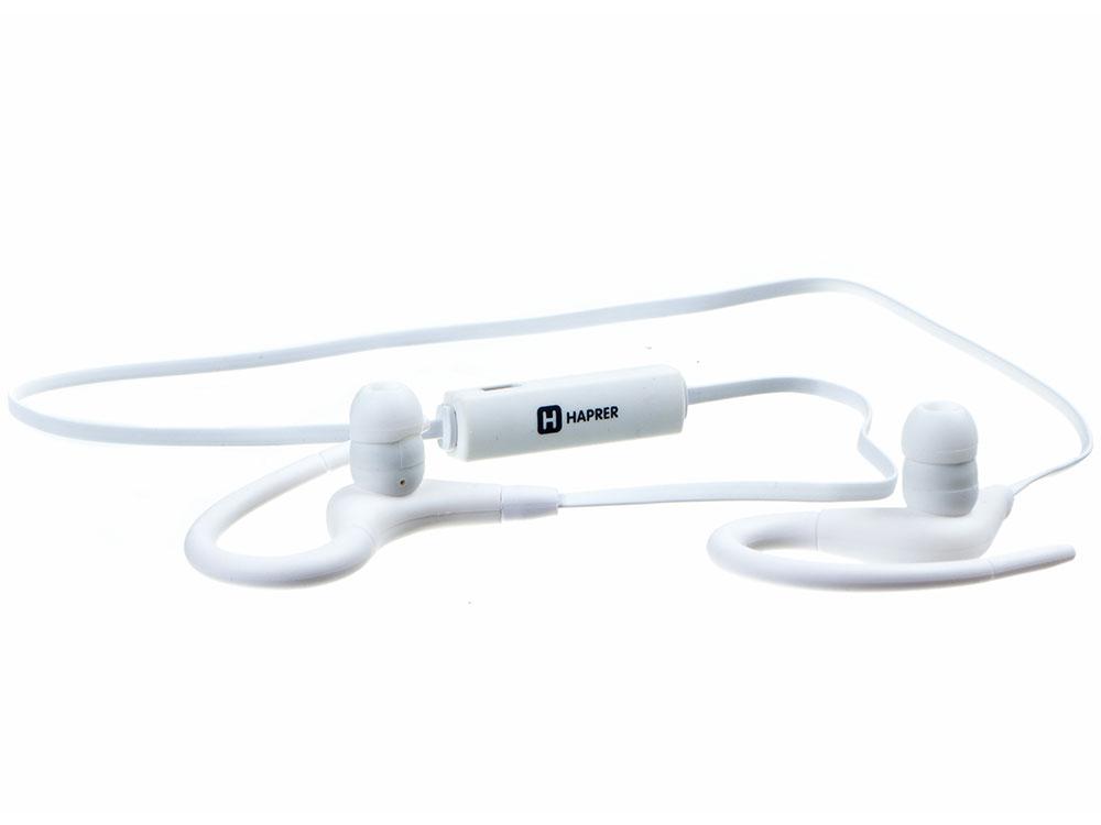Гарнитура HARPER HB-108 white Беспроводные / Внутриканальные с микрофоном / Белый / 20 Гц - 20 кГц / Двухстороннее / до 5 ч / Bluetooth, Micro USB наушники гарнитура xiaomi mi sports bluetooth earphones white беспроводные вставные с микрофоном белый 88 дб двустороннее до 7 ч bluetooth