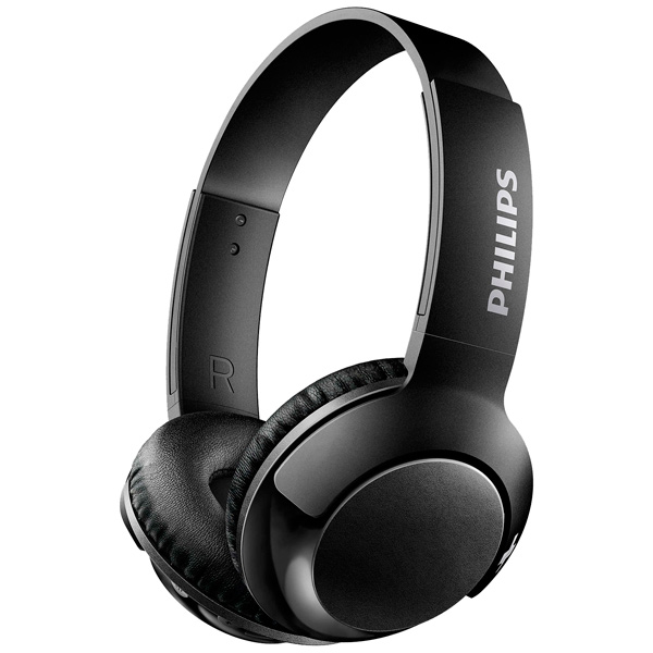 Наушники Philips SHB3075BK/00 черный Беспроводные / Полноразмерные с микрофоном / Черный / 9 Гц - 21 кГц / 103 дБ / до 12ч / Bluetooth, Micro-USB awei g20bl bluetooth earphone headphone dual driver headset wireless sport earphone bass sound auriculares inalambrico bluetooth