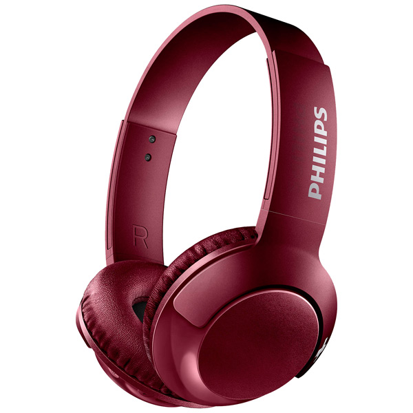 Наушники Philips SHB3075RD/00 Bluetooth темно-красный Беспроводные / Полноразмерные с микрофоном / Красный / 9 Гц - 21 кГц / 103 дБ / до 12ч / Bluetooth, Micro-USB наушники philips shb3075bk 00 черный беспроводные полноразмерные с микрофоном черный 9 гц 21 кгц 103 дб до 12ч bluetooth micro usb