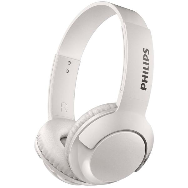 Наушники Philips SHB3075WT/00 Bluetooth белый Беспроводные / Полноразмерные с микрофоном / Белый / 9 Гц - 21 кГц / 103 дБ / до 12ч / Bluetooth наушники philips shb3075bk 00 черный беспроводные полноразмерные с микрофоном черный 9 гц 21 кгц 103 дб до 12ч bluetooth micro usb