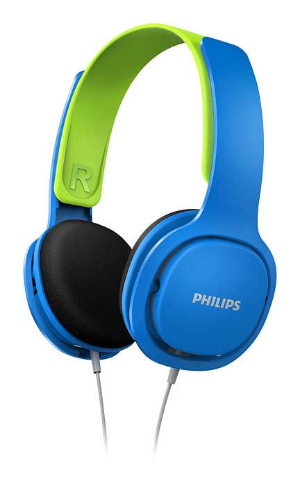 Наушники Philips SHK2000BL/00 синий с зелёным наушники philips she3515wt she3515wt 00