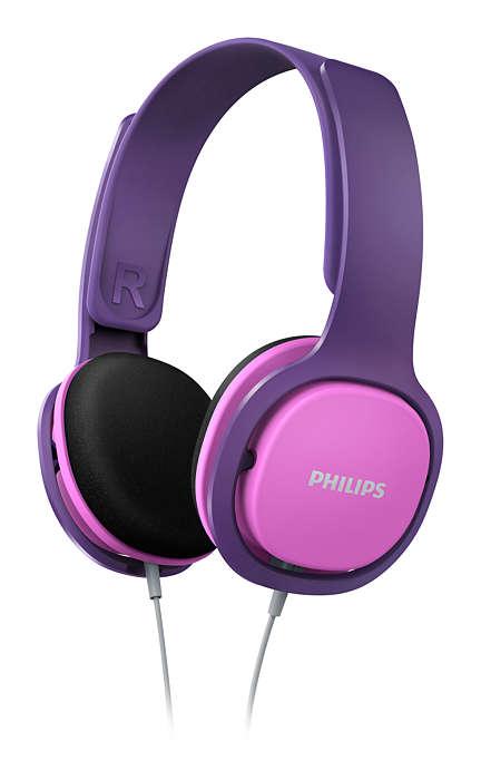 Наушники Philips SHK2000PK/00 розовый с фиолетовым наушники philips she3515wt she3515wt 00