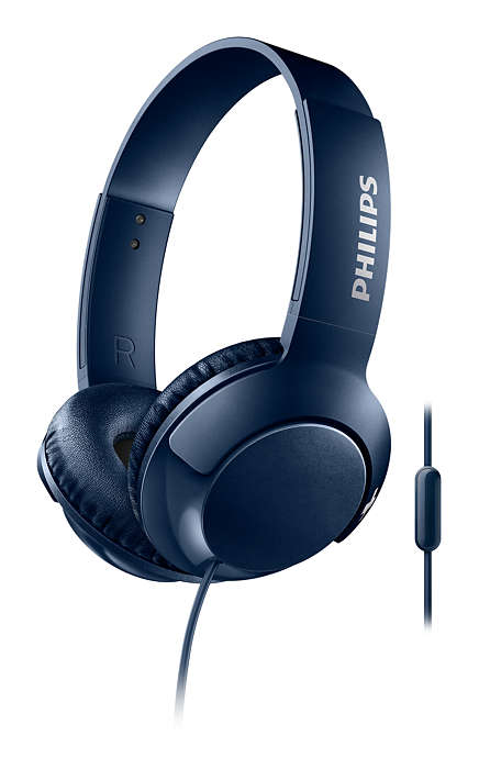 Наушники (гарнитура) Philips SHL3075BL/00 Blue Проводные / Накладные с микрофоном / Синий / 9 Гц - 23 кГц / 103 дБ / Mini-jack / 3.5 мм гарнитура philips she1455 white