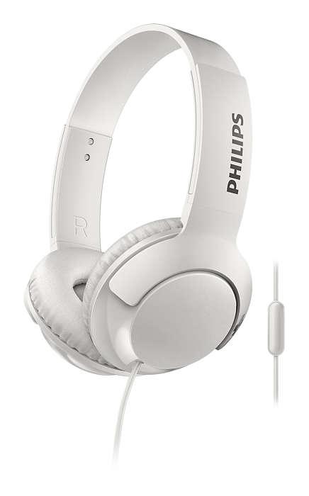 Наушники (гарнитура) Philips SHL3075RD/00 White Проводные / Накладные с микрофоном / Белый / 9 Гц - 23 кГц / 103 дБ / Mini-jack / 3.5 мм наушники philips shb3075bk 00 черный беспроводные полноразмерные с микрофоном черный 9 гц 21 кгц 103 дб до 12ч bluetooth micro usb