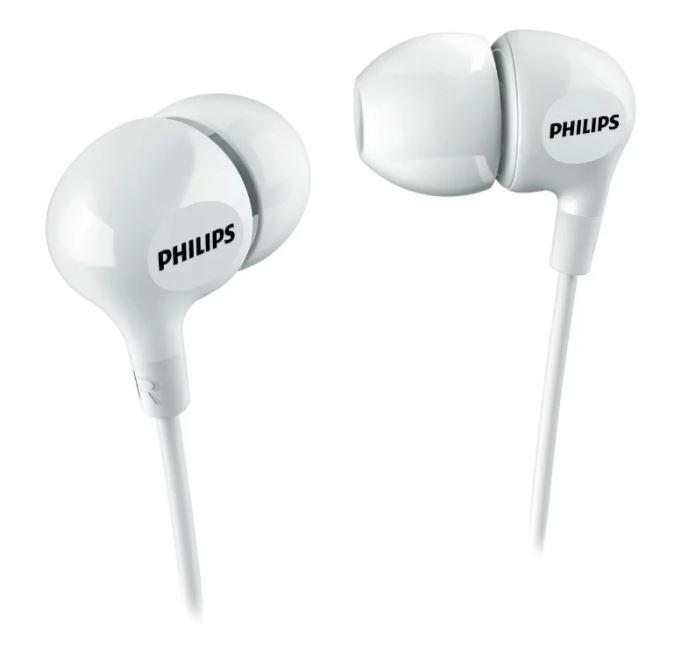 Наушники Philips SHE3550 Проводные / Внутриканальные / Белый / 11 Гц - 22 кГц / 105 дБ / Двухстороннее / Mini-jack / 3.5 мм скороварка unit usp 1090
