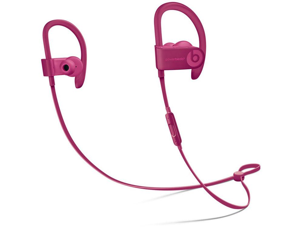 Наушники (гарнитура) Apple Beats Powerbeats 3 MPXP2ZE/A Pink Беспроводные / Внутриканальные с микрофоном / Розовый / 20 Гц - 20 кГц / 114 дБ / до 12 ч / Bluetooth, Micro-USB наушники philips shb3075bk 00 черный беспроводные полноразмерные с микрофоном черный 9 гц 21 кгц 103 дб до 12ч bluetooth micro usb