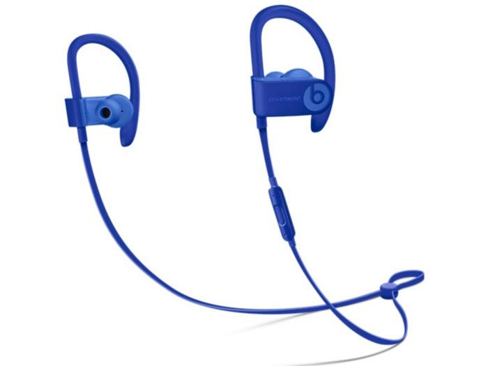 Наушники (гарнитура) Apple Beats Powerbeats 3 Blue Беспроводные / Внутриканальные с микрофоном / Синий / 20 Гц - 20 кГц / 114 дБ / до 12 ч / Bluetooth, Micro-USB наушники philips shb3075bk 00 черный беспроводные полноразмерные с микрофоном черный 9 гц 21 кгц 103 дб до 12ч bluetooth micro usb