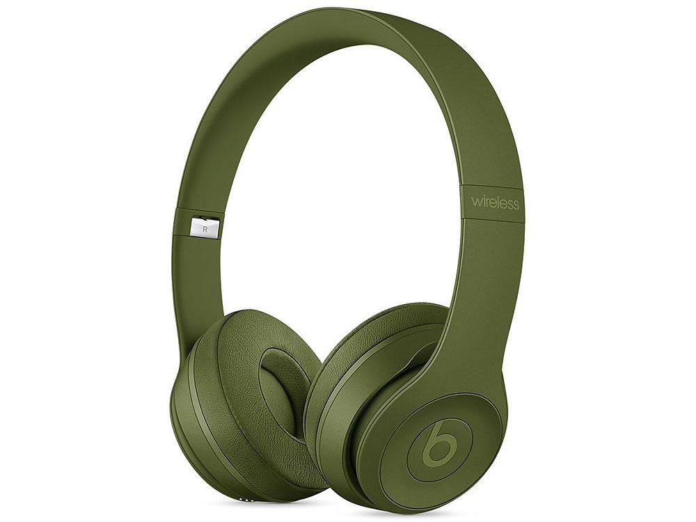 где купить Гарнитура Apple Beats Solo3 зеленый Беспроводные, проводные / Накладные с микрофоном / Зеленый / Одностороннее / до 40 ч / Bluetooth, Mini-jack / 3.5 мм по лучшей цене