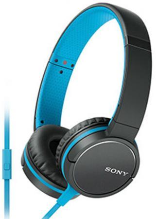 Наушники (гарнитура) SONY MDR-ZX660 синий черный Проводные / Накладные с микрофоном / Черный-синий / 5 Гц - 25 кГц / 104 дБ / Одностороннее / Mini-jack / 3.5 мм sony sony wi c400 синий беспроводная стерео гарнитура