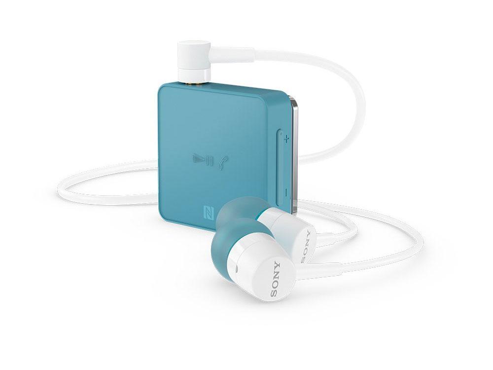 Bluetooth-гарнитура SONY SBH24 синий Беспроводные, проводные / Внутриканальные с микрофоном / Синий / двустороннее / до 6 ч / Bluetooth, Mini-jack / 3.5 мм наушники гарнитура xiaomi mi sports bluetooth earphones white беспроводные вставные с микрофоном белый 88 дб двустороннее до 7 ч bluetooth