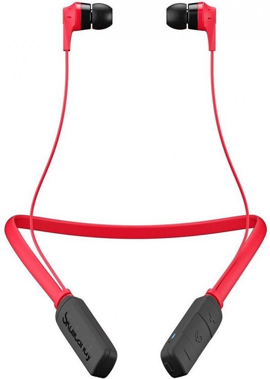 Наушники (гарнитура) Skullcandy INK'D 2.0 Wireless Red Беспроводная / Вставная с микрофоном / Красный-черный / 20 Гц - 20 кГц / до 7 ч / Bluetooth наушники с микрофоном skullcandy inkd mic black red