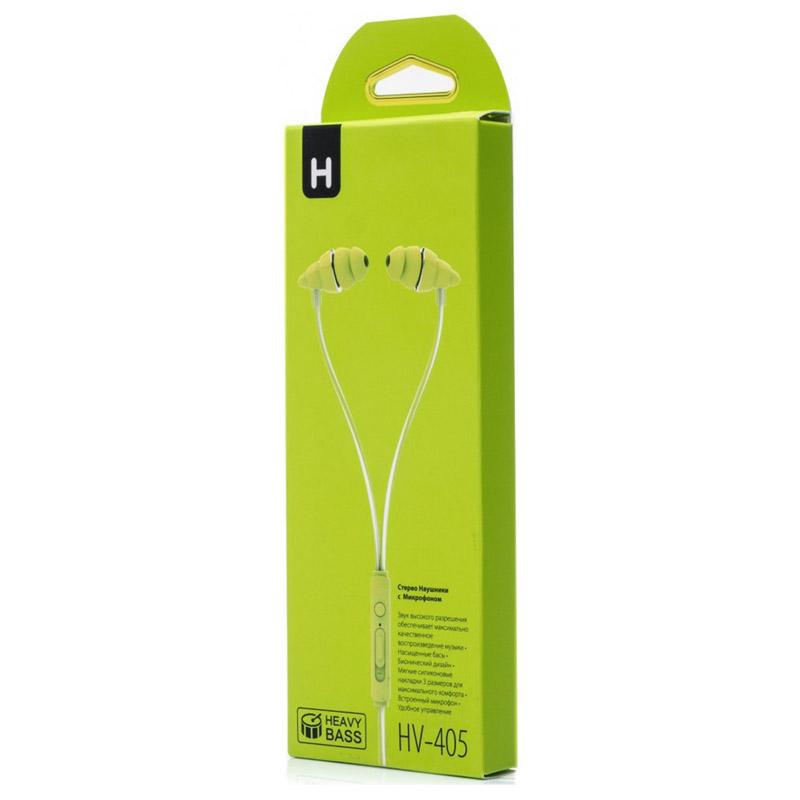 Гарнитура HARPER HV-405 green Проводные / Внутриканальные с микрофоном / Зеленый / 20 Гц - 20 кГц / 102 дБ / Двухстороннее / Mini-jack / 3.5 мм наушники bbk ep 1190s black проводные внутриканальные черный 20 гц 22 кгц 98 дб двухстороннее mini jack 3 5 мм