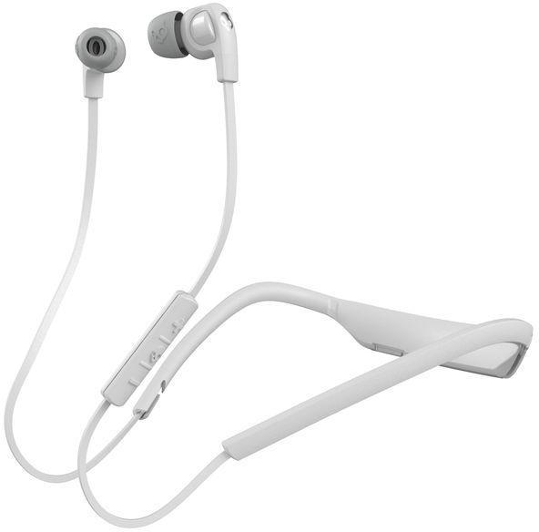 Наушники (гарнитура) Skullcandy INK'D 2.0 WIRELESS WHITE/GRAY/GRAY Беспроводные / Внутриканальные / Белый-серый / 20 Гц - 20 кГц / Двухстороннее / До 8 ч / Bluetooth