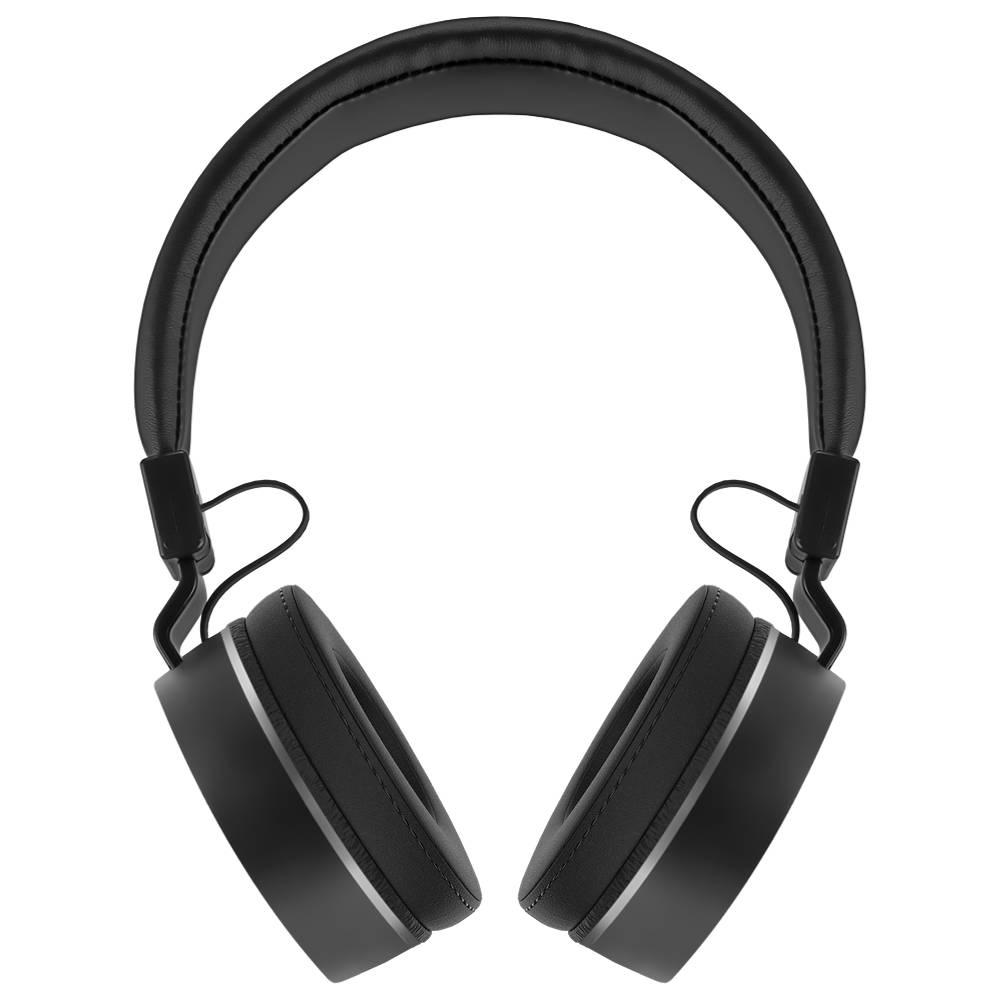 Наушники (гарнитура) GiNZZU GM-371BT Беспроводные / Накладные с микрофоном / Черный / 20 Гц - 20 кГц / 110 дБ / Bluetooth, miniJack 3.5 наушники беспроводные ginzzu gm 451bt черные с микрофоном