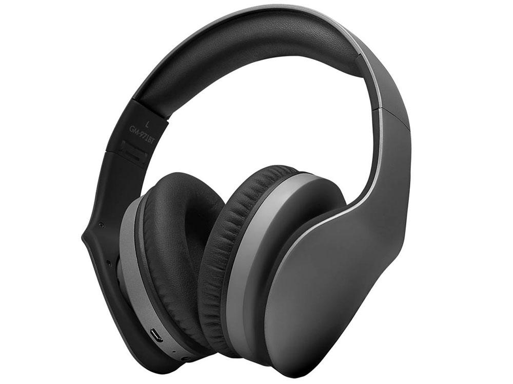 Наушники беспроводные GiNZZU GM-971BT Беспроводные, проводные / Накладные с микрофоном / Черный / 20 Гц - 20 кГц / 123 дБ / Одностороннее / Bluetooth, Mini-jack / 3.5 наушники беспроводные ginzzu gm 451bt черные с микрофоном