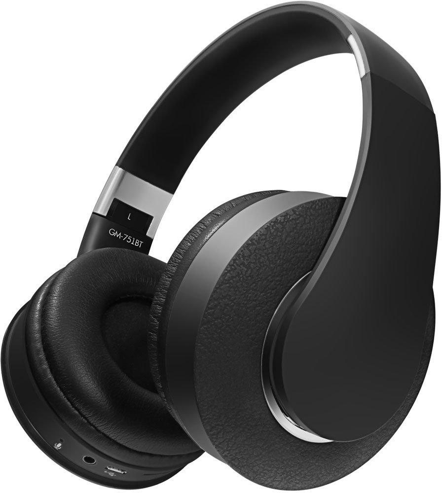 Наушники (гарнитура) GiNZZU GM-751BT Беспроводные / Накладные с микрофоном / Черный / 20 Гц - 20 кГц / 110 дБ / Bluetooth, miniJack 3.5 цена и фото