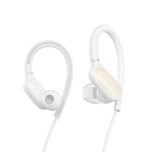Наушники (гарнитура) Xiaomi Mi Sports Bluetooth Earphones White Беспроводные / Вставные с микрофоном / Белый / 88 дБ / Двустороннее / до 7 ч / Bluetooth wireless waterproof bluetooth headset sports bluetooth earphones headphone with mic bass earphone for samsung iphone xiaomi