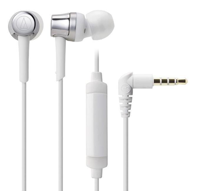 Наушники (гарнитура) AUDIO-TECHNICA ATH-CKR30ISBK White Проводные / Внутриканальные с микрофоном / Белый / 5 Гц - 24 кГц / 102 дБ / Mini-jack / 3.5 мм внутриканальные наушники audio technica ep3