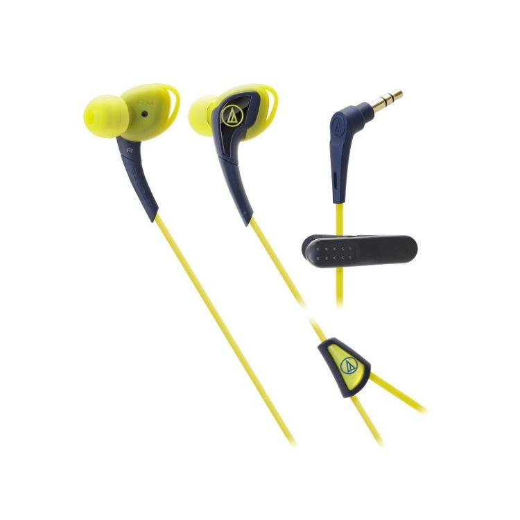 Наушники AUDIO-TECHNICA ATH-SPORT2 NY Yellow Проводные / Внутриканальные / Желтый / 15 Гц - 24 кГц / 100 дБ / Mini-jack / 3.5 мм наушники audio technica ath sport2 black