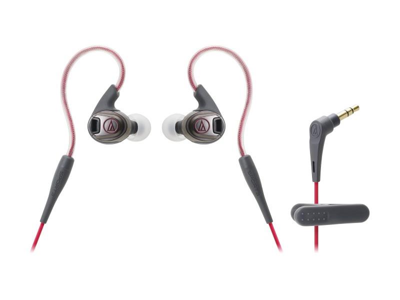 Наушники AUDIO-TECHNICA ATH-SPORT3 BK Проводные / Внутриканальные / Красный / 10 Гц - 25 кГц / 102 дБ / Mini-jack / 3.5 мм