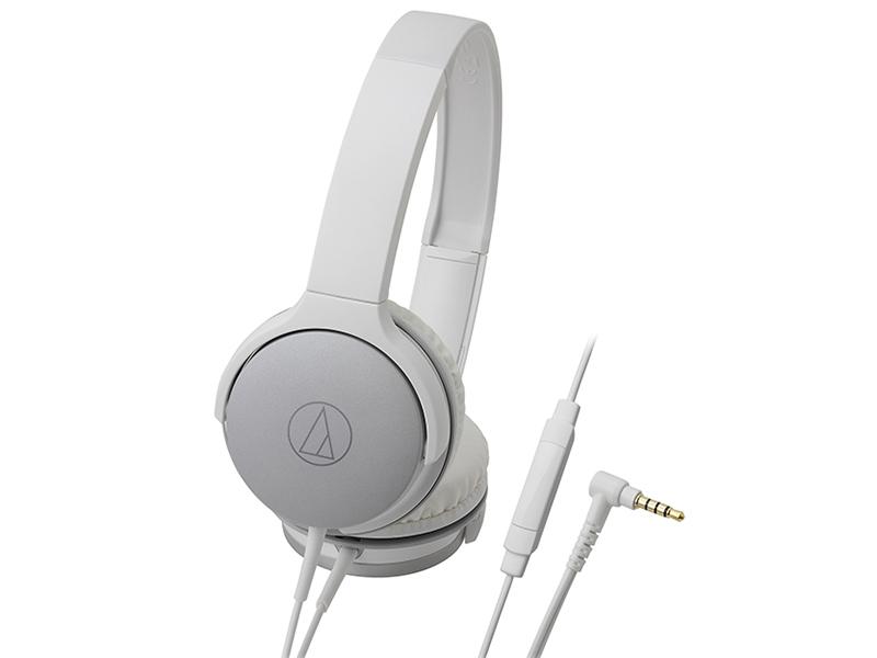 Наушники (гарнитура) AUDIO-TECHNICA ATH-AR1ISWH Проводные / Накладные с микрофоном / Белый / 5 Гц - 30 кГц / 103 дБ / Двухстороннее / Mini-jack / 3.5 мм