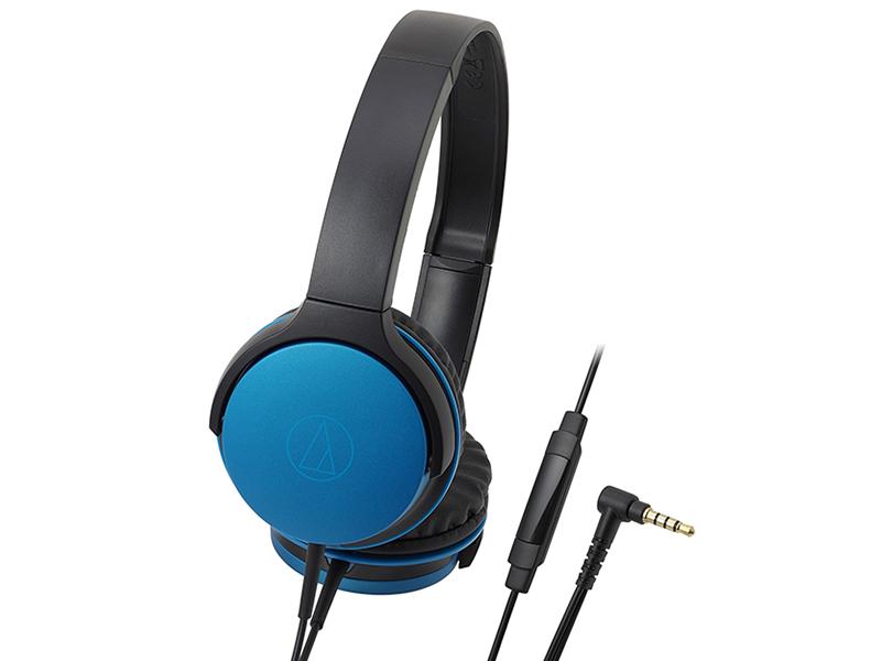 Наушники (гарнитура) AUDIO-TECHNICA ATH-AR1ISBL Проводные / Накладные с микрофоном / Синий / 5 Гц - 30 кГц / 103 дБ / Двухстороннее / Mini-jack / 3.5 мм наушники гарнитура philips shl3075bl 00 blue проводные накладные с микрофоном синий 9 гц 23 кгц 103 дб mini jack 3 5 мм