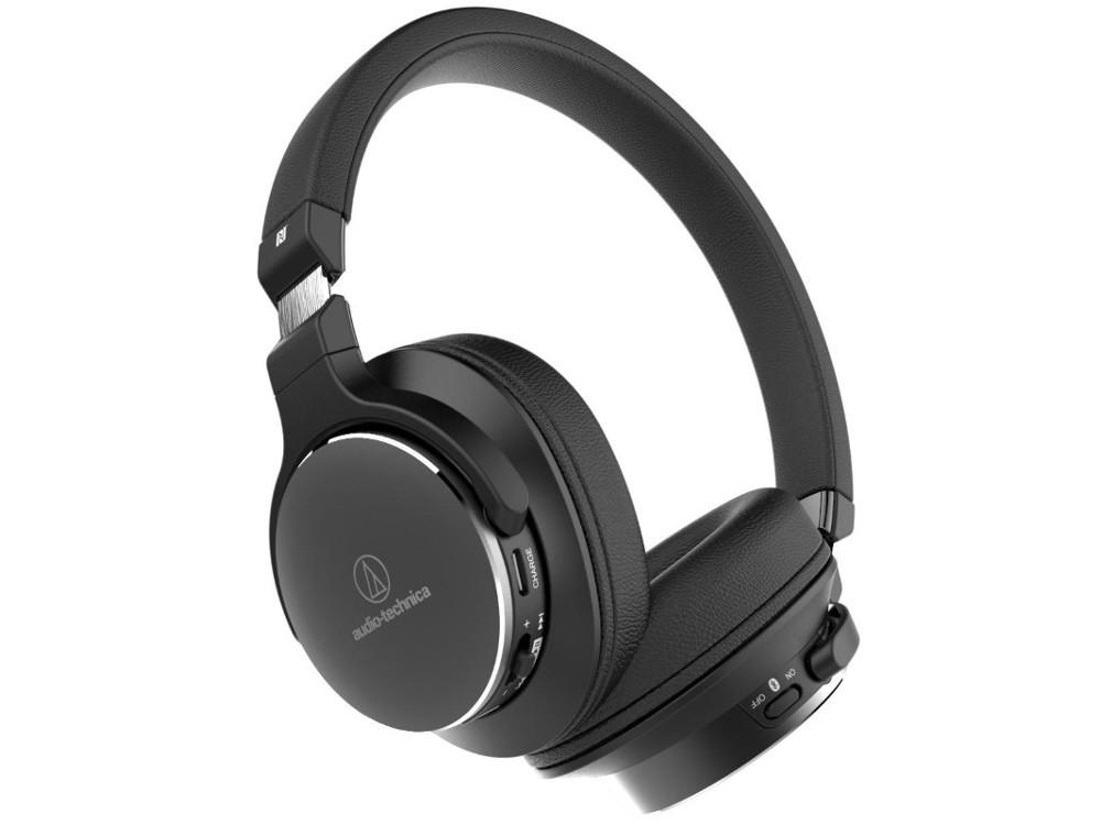 Наушники AUDIO-TECHNICA ATH-SR5BT BK Беспроводные / Накладные / Черный / 5 Гц - 40 кГц / 103 дБ / Mini-jack 3.5 мм / Bluetooth вставные наушники audio technica ath ckb50 черный купон код jd1601 сумма покупок от 50$ скидка 5$ от 100$ скидка 10$