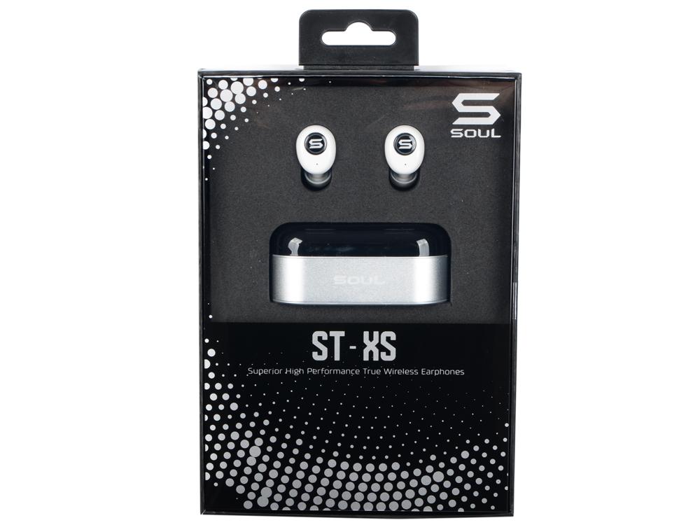 Гарнитура SOUL ST-XS white Беспроводные / Внутриканальные / Белый / 20 Гц - 20 кГц / 91 дБ / до 2,5 ч / Bluetooth гарнитура ienjoy in066